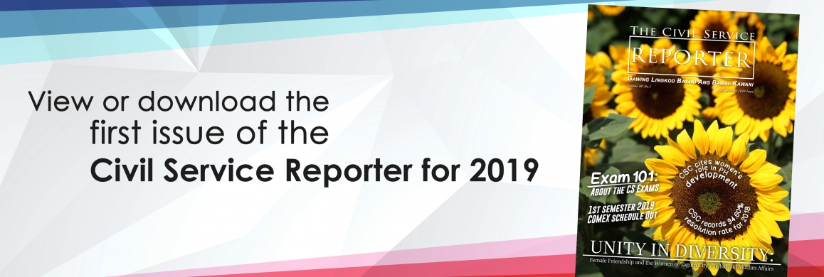 First issue of the Civil Service Reporter for 2019